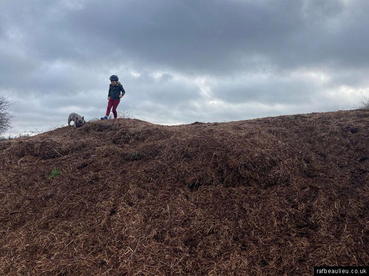 compost hills and mounds at RAF Beaulieu