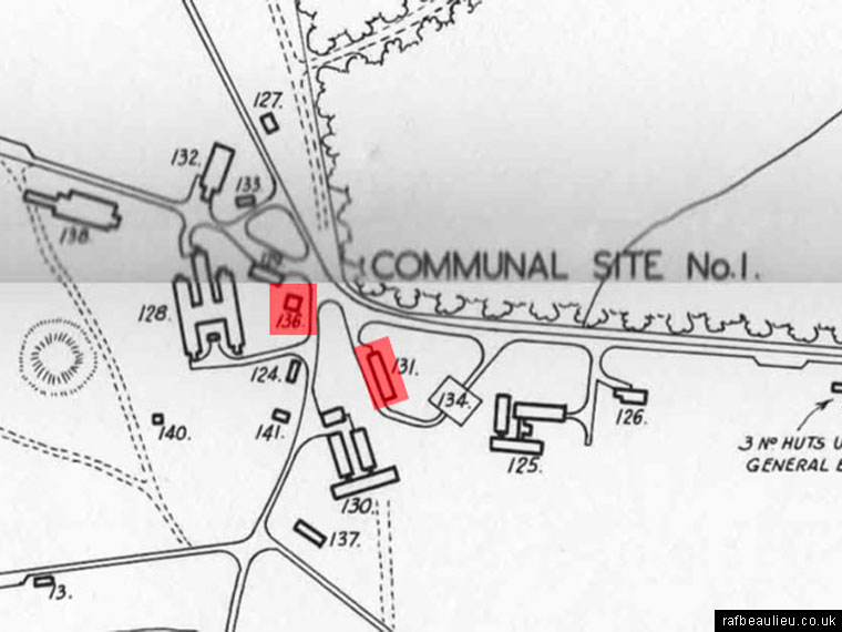 roundhill campsite map from 1945
