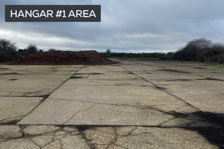 RAF Beaulieu Airfield hangar area