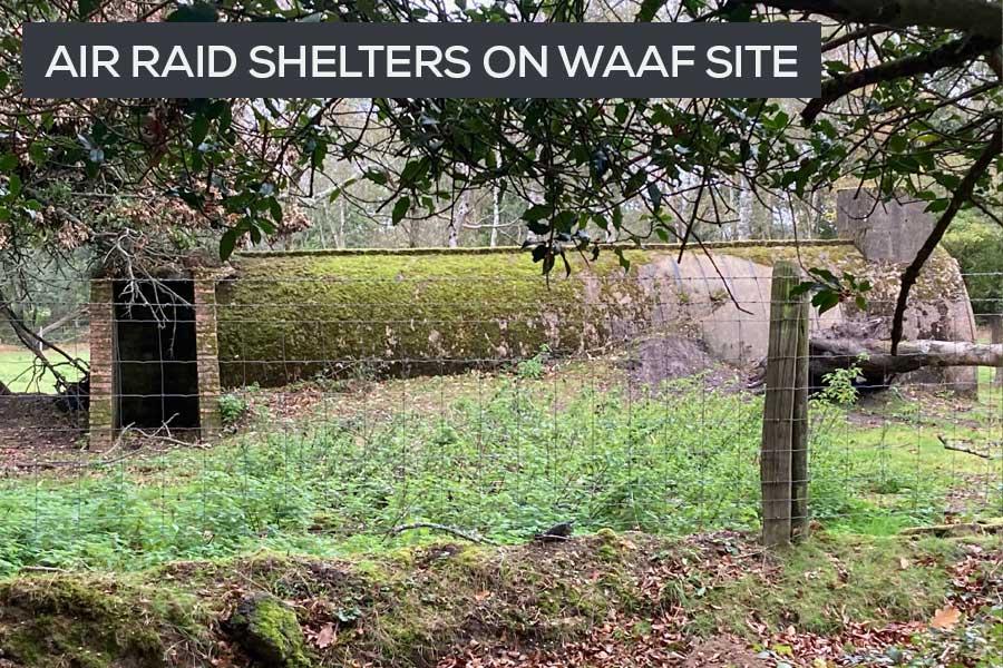 stanton air raid shelters at RAF Beaulieu