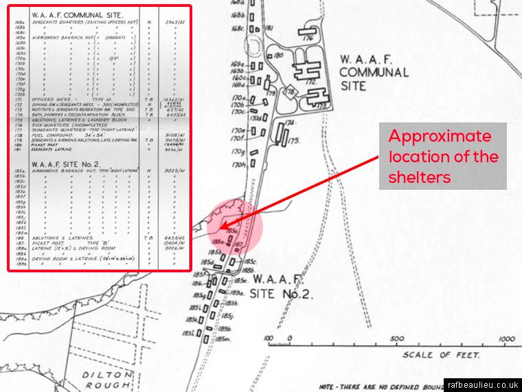waaf site map RAF Beaulieu
