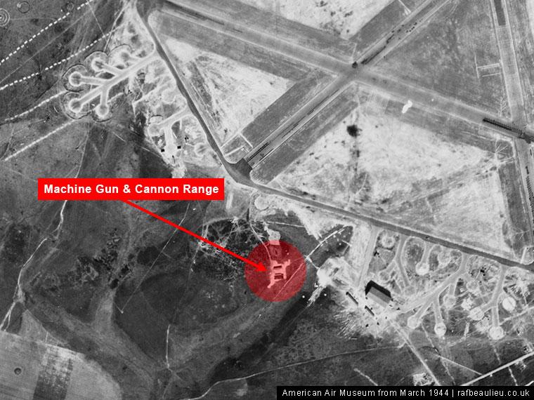 aerial photo of RAF Beaulieu machine gun or small arms range