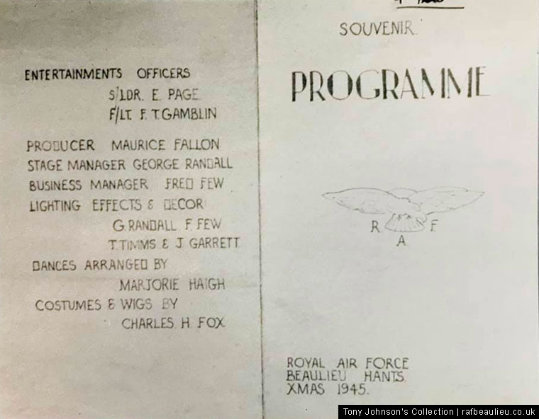 RAF Beaulieu programme