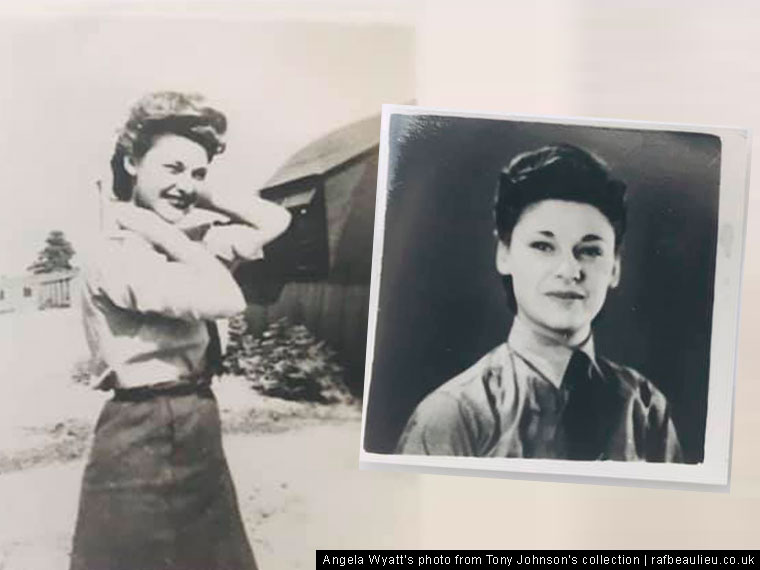 ENSA worker at WW2 airfield