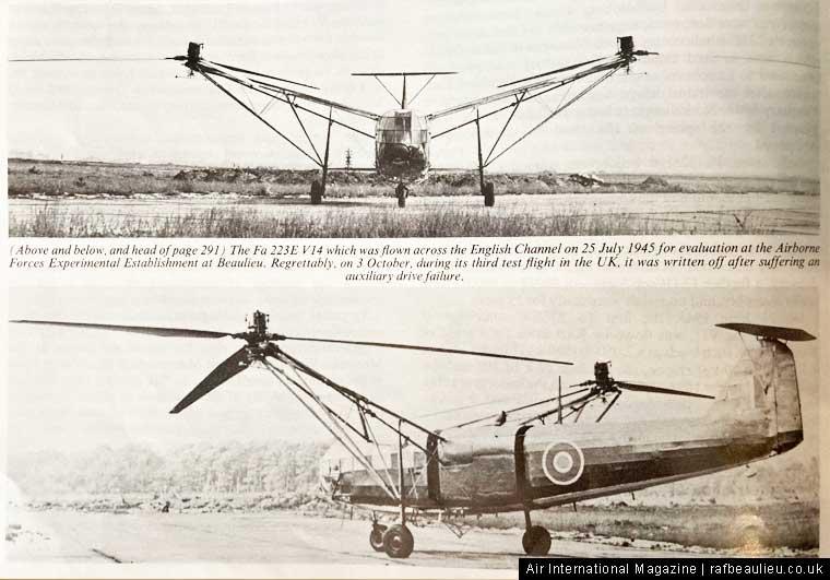 The FA 223 Drache at RAF Beaulieu