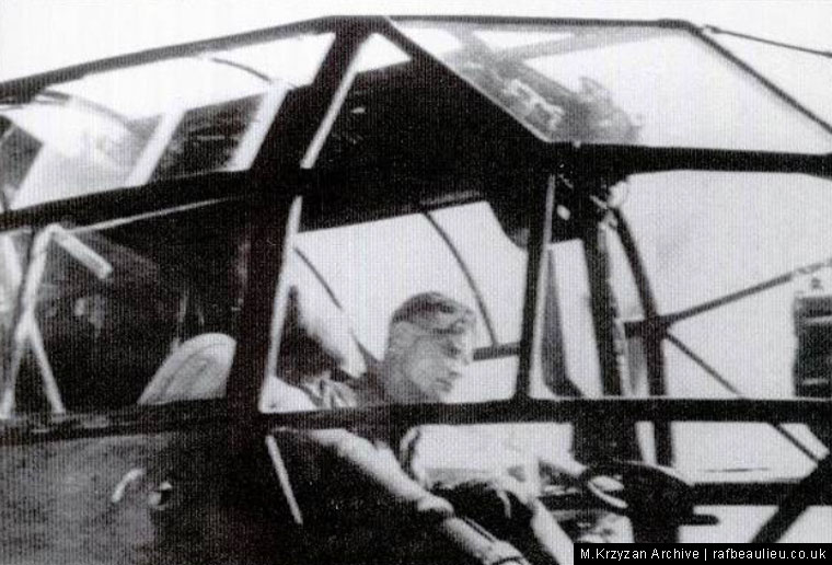 Gerstenhauer in the helicopter