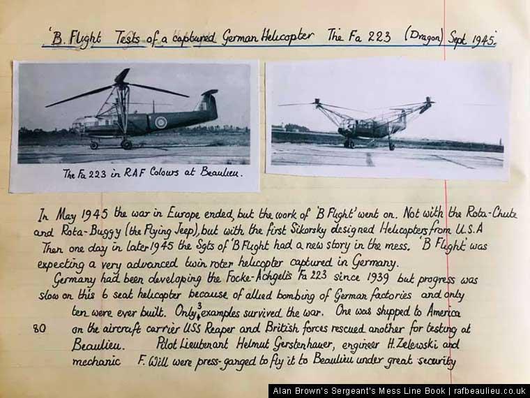 The Drache at the AFEE RAF Beaulieu