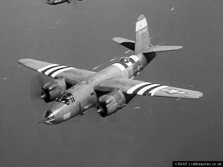 kactus kid b-26 bomber in flight