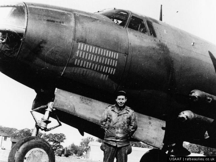 b-26 bomber and crew