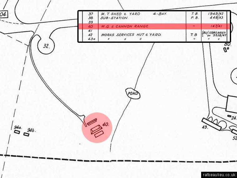 map of RAF Beaulieu shooting range