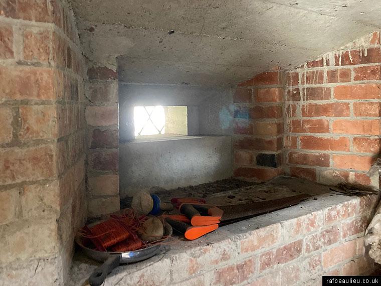 inside the ww2 pillbox in Beaulieu