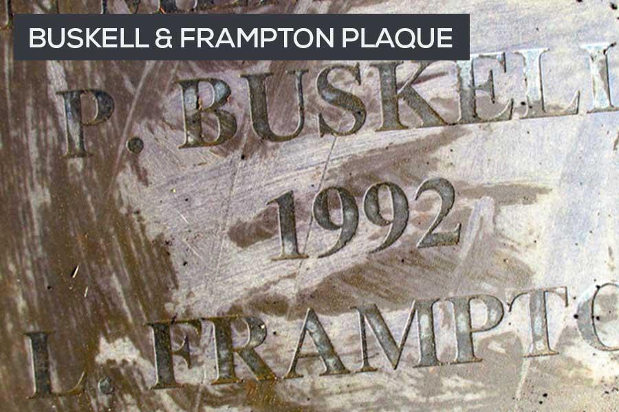 buskell Frampton plaque beaulieu