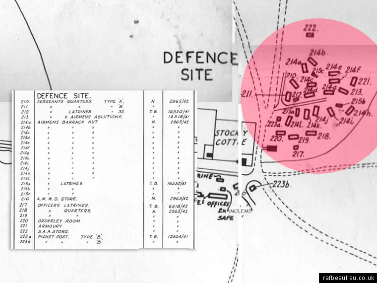 RAF Beaulieu defence site buildings