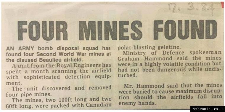 mines newspaper cutting
