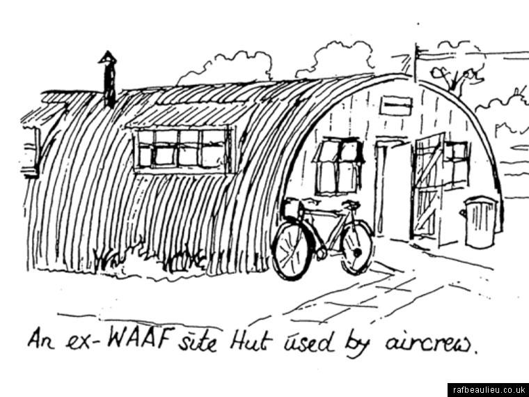 sketch of a Nissen hut at Beaulieu Airfield