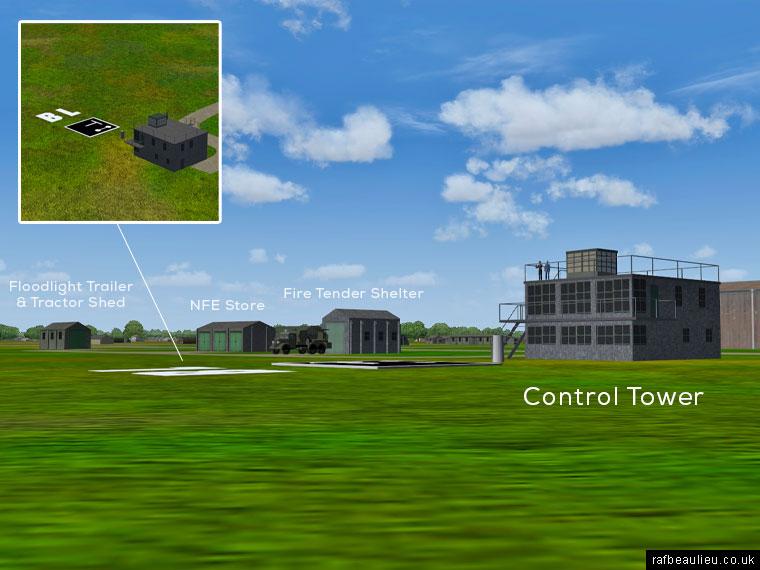 RAF Beaulieu control tower area