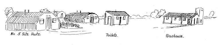 sketch of living accommodation