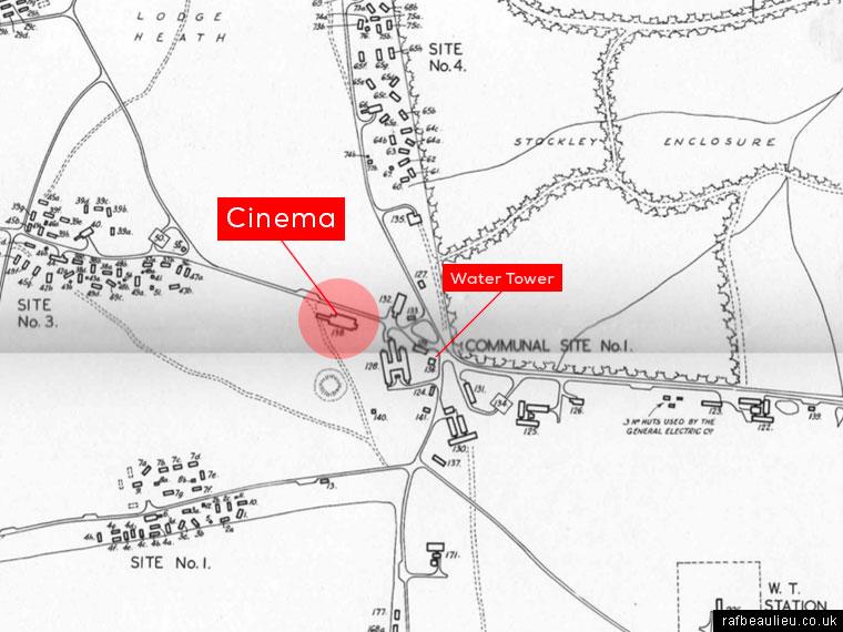 Beaulieu Airfield map with cinema