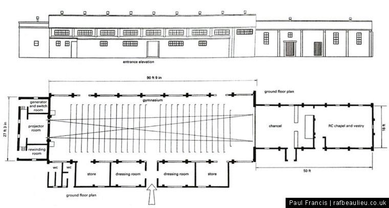 airfield cinema gym 16428/40 plan